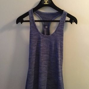 Lululemon Blue Wee Stripe Cool Racerback Tank Top